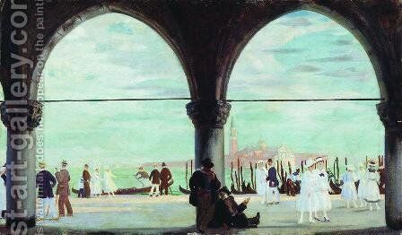 Venice. Memory by Boris Kustodiev - Reproduction Oil Painting