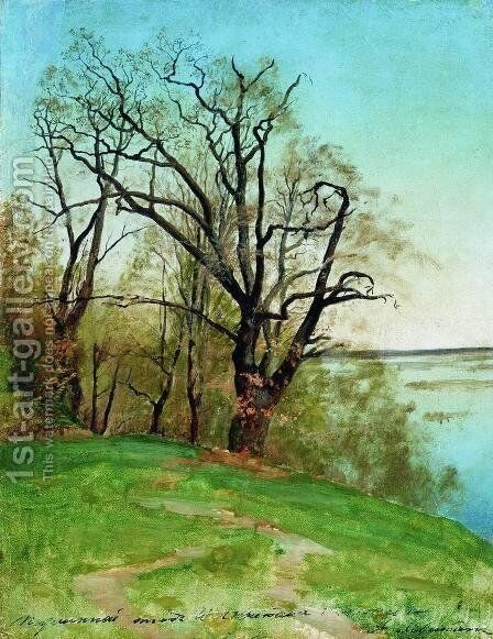Oak on the riverbank by Isaak Ilyich Levitan - Reproduction Oil Painting