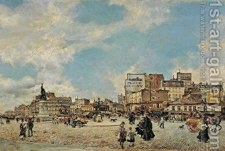 Place Clichy by Giovanni Boldini - Reproduction Oil Painting