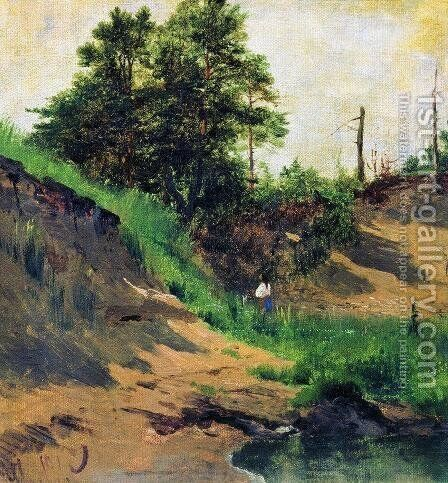 Landscape 5 by Ivan Shishkin - Reproduction Oil Painting
