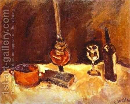 Still Life with Lamp by Chaim Soutine - Reproduction Oil Painting