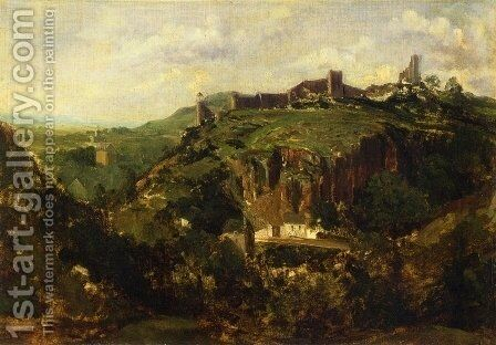 Town in Auvergne by Theodore Rousseau - Reproduction Oil Painting