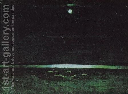 Moonlight Night on the Dnieper 2 by Arkhip Ivanovich Kuindzhi - Reproduction Oil Painting