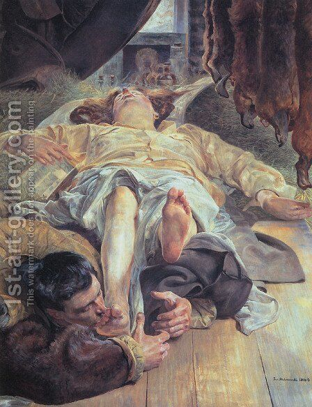 Death of Ellenai 3 by Jacek Malczewski - Reproduction Oil Painting