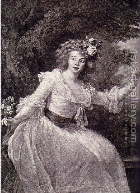 Portrait of French actress Louise Rosalie Dugazon by Elisabeth Vigee-Lebrun - Reproduction Oil Painting