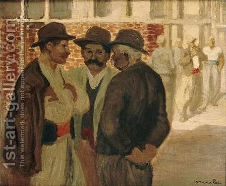 Construction workers by Theophile Alexandre Steinlen - Reproduction Oil Painting
