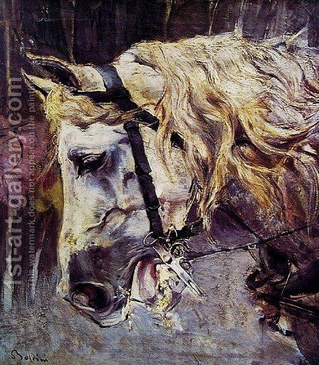 The Head of a Horse by Giovanni Boldini - Reproduction Oil Painting