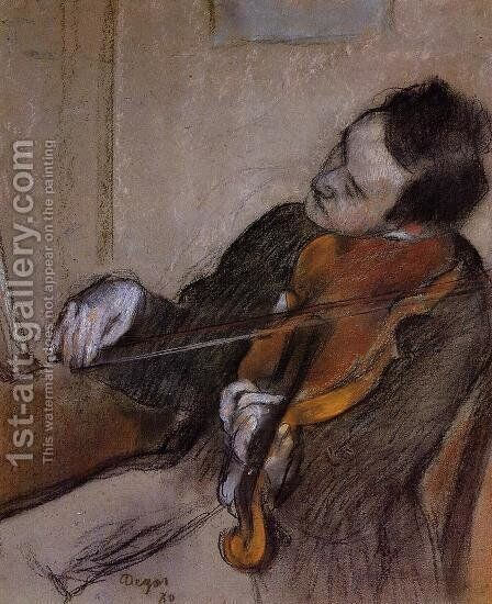 The Violist by Edgar Degas - Reproduction Oil Painting