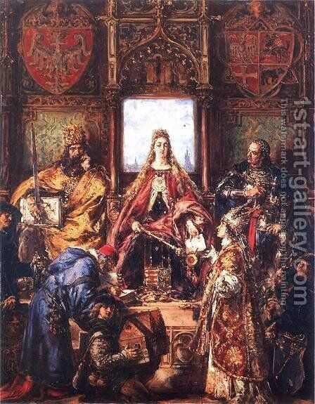 The Marriage of Jadwiga and Jagiello by Jan Matejko - Reproduction Oil Painting