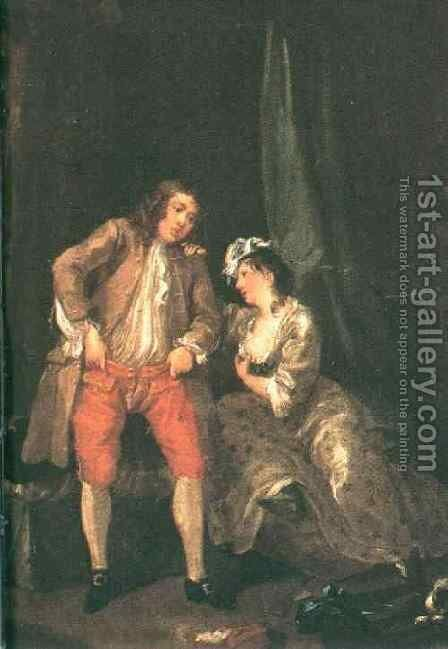 Before the Seduction and After 1731 by William Hogarth - Reproduction Oil Painting