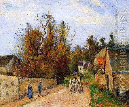 The diligence by Camille Pissarro - Reproduction Oil Painting