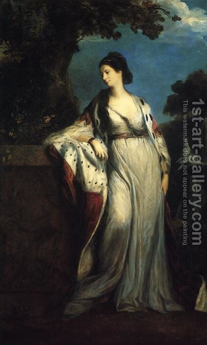 Elizabeth, Duchess of Hamilton and Argyll by Sir Joshua Reynolds - Reproduction Oil Painting