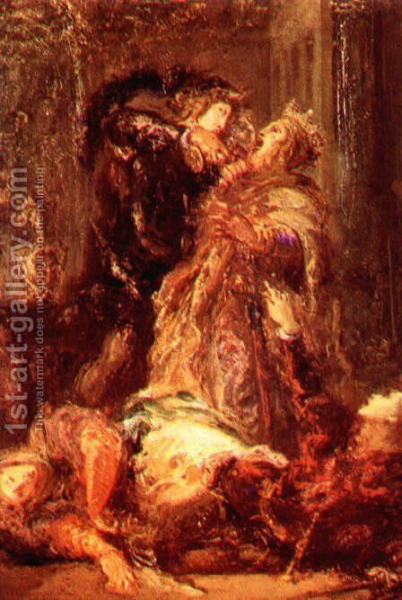 Prince Hamlet kill King Claudius by Gustave Moreau - Reproduction Oil Painting
