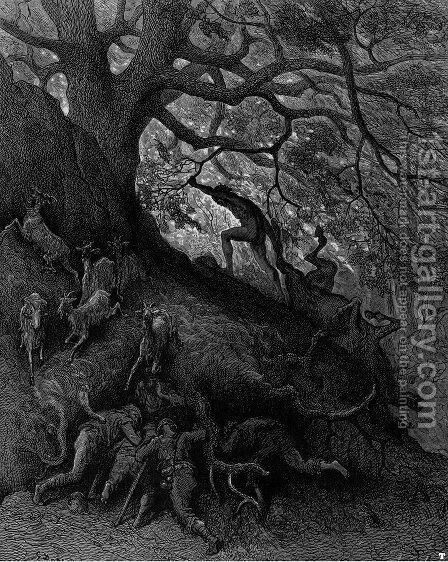 Orlando Furioso 8 by Gustave Dore - Reproduction Oil Painting