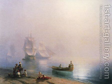 Morning in the Bay of Naples by Ivan Konstantinovich Aivazovsky - Reproduction Oil Painting