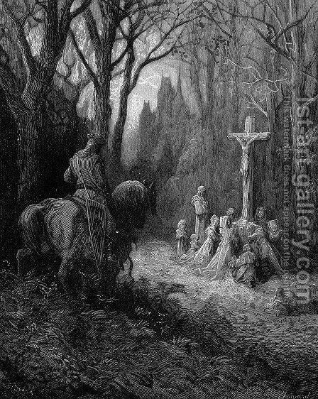 The Return by Gustave Dore - Reproduction Oil Painting