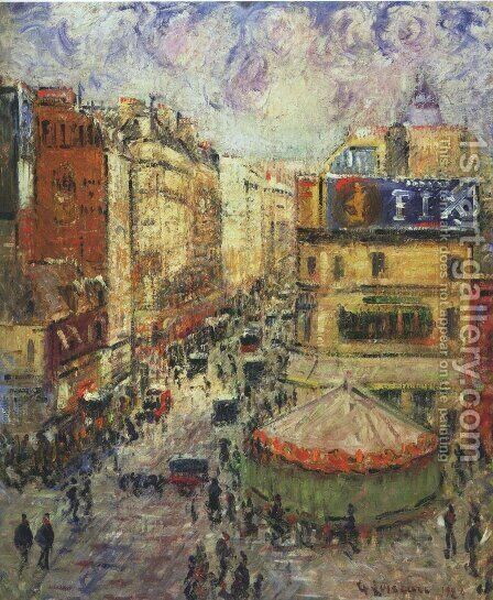 Cligancourt street 2 by Gustave Loiseau - Reproduction Oil Painting
