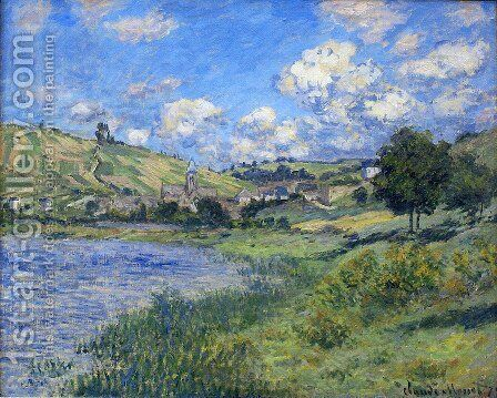 Vetheuil, Paysage by Claude Oscar Monet - Reproduction Oil Painting