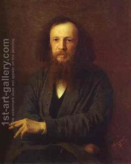 Portrait of Dmitry Mendeleyev by Ivan Nikolaevich Kramskoy - Reproduction Oil Painting