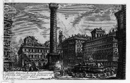 The Roman antiquities, t. 1, Plate XIII. Column of Marcus Aurelius. by Giovanni Battista Piranesi - Reproduction Oil Painting