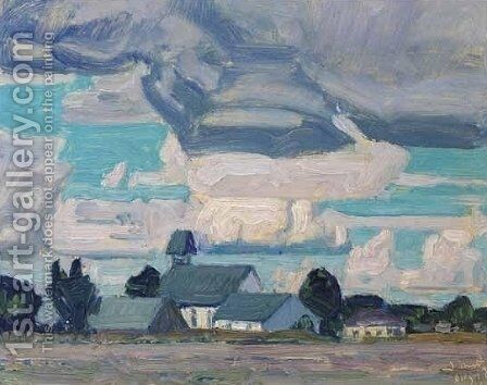 Cloudy Sky, Thornhill Church by James Edward Hervey MacDonald - Reproduction Oil Painting