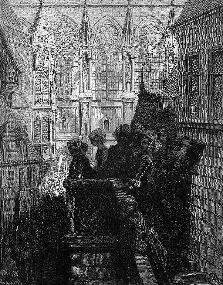 Prayers for the Dead by Gustave Dore - Reproduction Oil Painting