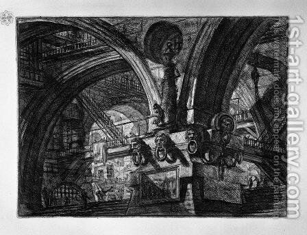The Pier with a Lamp by Giovanni Battista Piranesi - Reproduction Oil Painting
