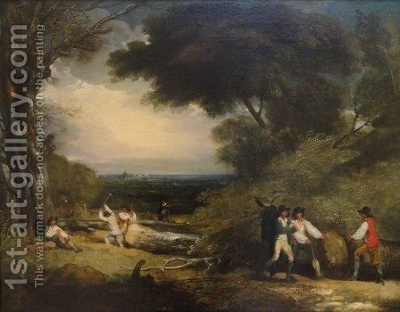 Woodcutters in Windsor Park by Benjamin West - Reproduction Oil Painting