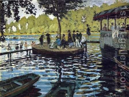 The Grenouillere by Claude Oscar Monet - Reproduction Oil Painting