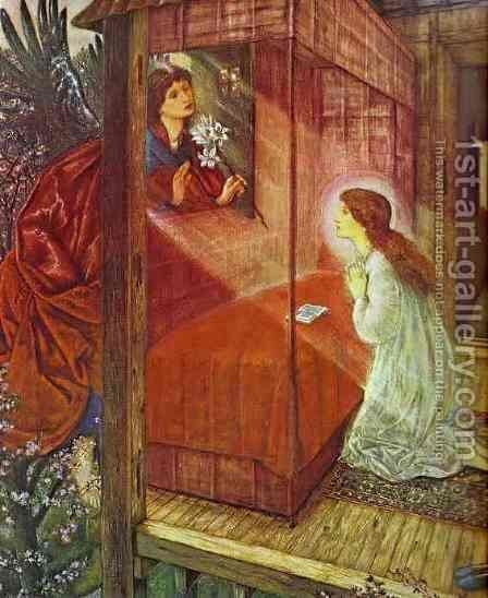 The Annunciation. The Flower of God by Sir Edward Coley Burne-Jones - Reproduction Oil Painting