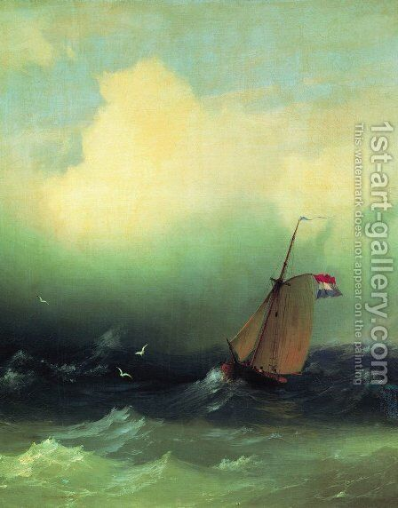 Storm at Sea 4 by Ivan Konstantinovich Aivazovsky - Reproduction Oil Painting