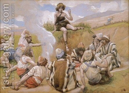 Joseph Reveals His Dream to His Brethren by James Jacques Joseph Tissot - Reproduction Oil Painting