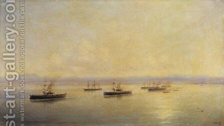 Fleet in Sevastopol by Ivan Konstantinovich Aivazovsky - Reproduction Oil Painting