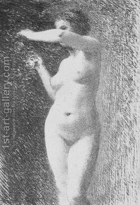 Study for Eve by Ignace Henri Jean Fantin-Latour - Reproduction Oil Painting