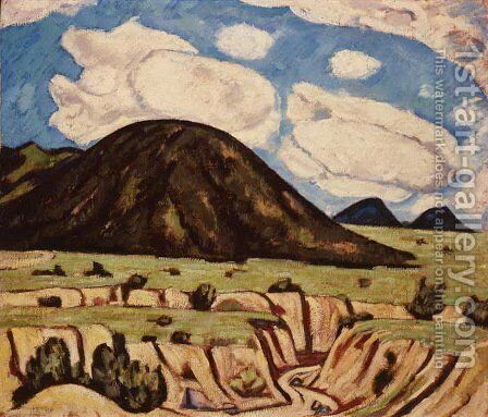 Landscape, New Mexico 2 by Marsden Hartley - Reproduction Oil Painting
