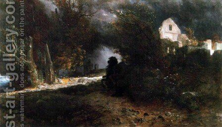 The Ride of Death (The Fall and Death) by Arnold Böcklin - Reproduction Oil Painting