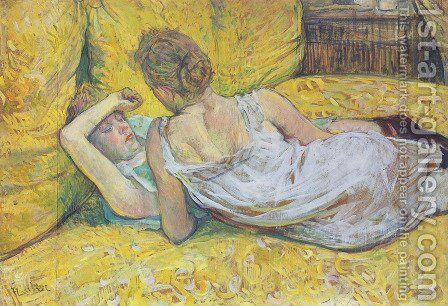 Abandonment (The pair) by Toulouse-Lautrec - Reproduction Oil Painting
