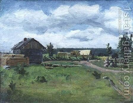 Gray day 2 by Isaak Ilyich Levitan - Reproduction Oil Painting