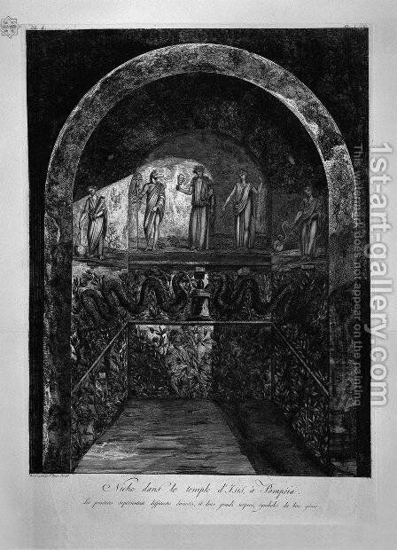 Niche in the Temple of Isis at Pompei by Giovanni Battista Piranesi - Reproduction Oil Painting