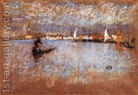 The guidecca Winter Grey and Blue by James Abbott McNeill Whistler - Reproduction Oil Painting