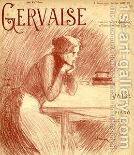Gervaise by Theophile Alexandre Steinlen - Reproduction Oil Painting