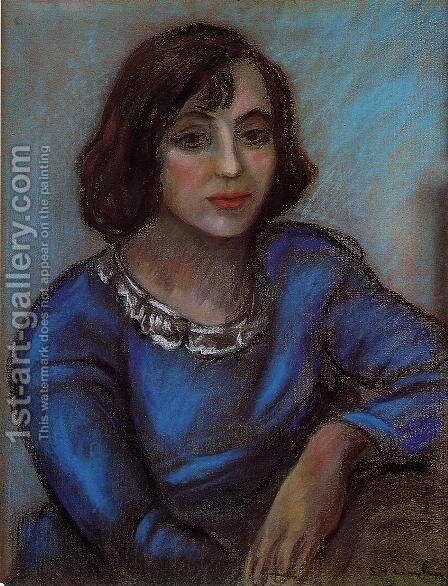 Portrait of a Young Woman by Theophile Alexandre Steinlen - Reproduction Oil Painting