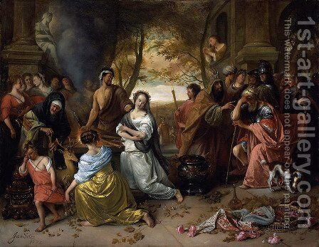 Sacrifice of Iphigenia by Jan Steen - Reproduction Oil Painting