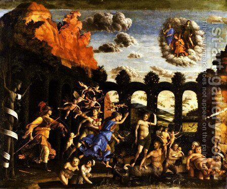 Minerva Chasing the Vices from the Garden of Virtue by Andrea Mantegna - Reproduction Oil Painting
