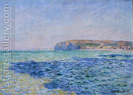 Shadows on the Sea at Pourville by Claude Oscar Monet - Reproduction Oil Painting