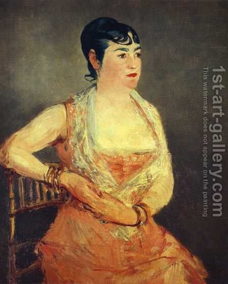 Jeanne Martin in pink dress by Edouard Manet - Reproduction Oil Painting