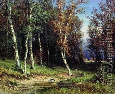 Forest before the storm by Ivan Shishkin - Reproduction Oil Painting