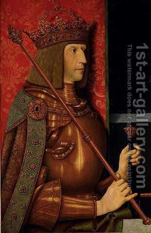 Emperor Maximilian I (1459-1519) by Bernhard Strigel - Reproduction Oil Painting