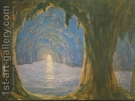 The Blue Grotto by Miklos Barabas - Reproduction Oil Painting