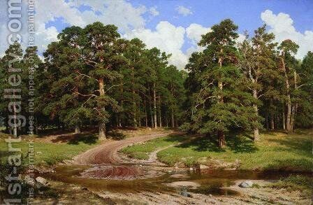 Pine forest 8 by Ivan Shishkin - Reproduction Oil Painting